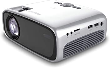 $64 » Philips NeoPix Easy+ Projector, Wi-Fi Screen Mirroring, Built-in Media Player
