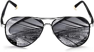 نظارات شمسية مستقطبة Aviator Sungl من ROCKNIGHT للرجال النساء معدن مسطح علوي خفيف الوزن للقيادة UV400 في الهواء الطلق 58 مم