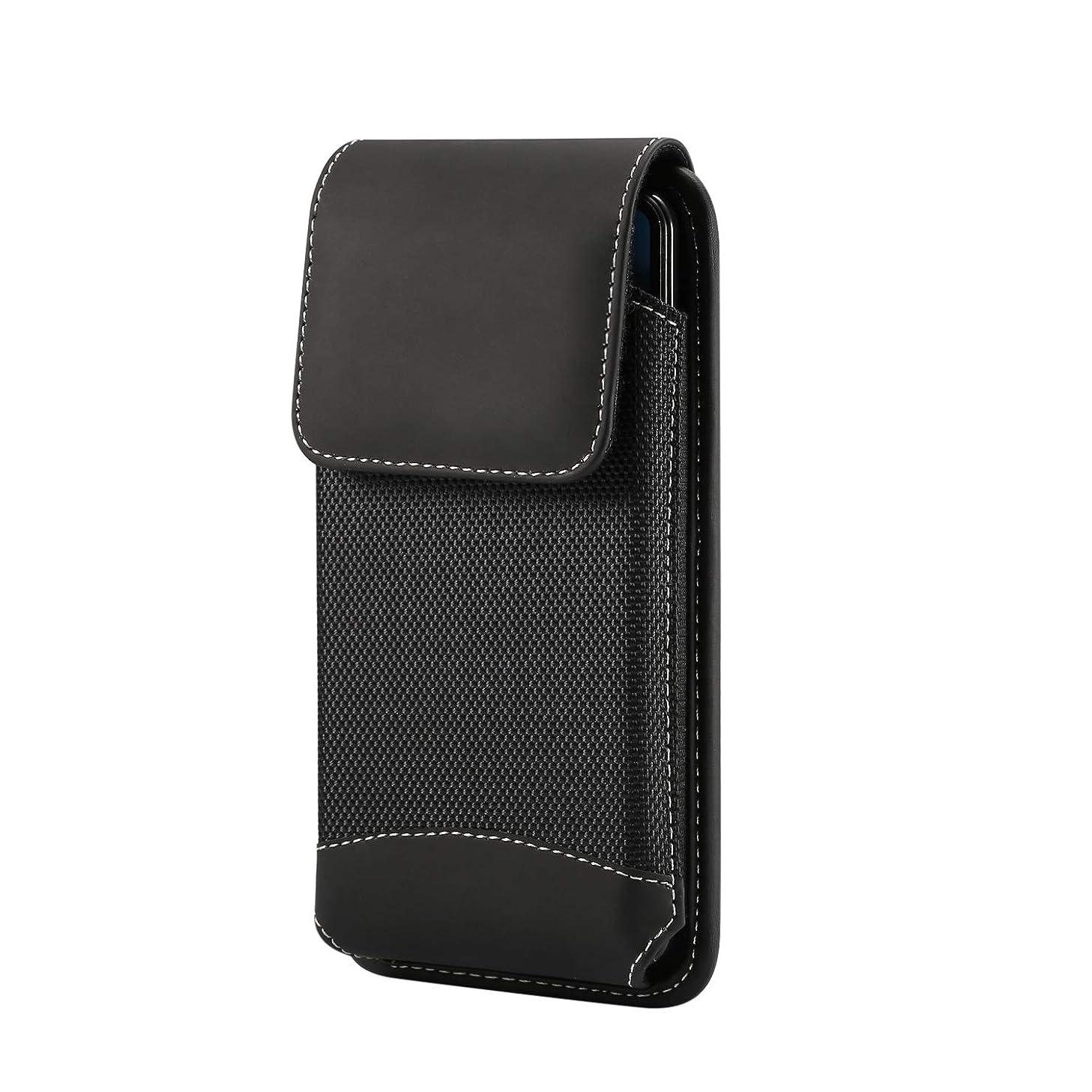 Men Oxford Vertical Pouch Case Belt Clip Loops Holster for LG G7 G6 / LG Stylo 4 / Stylo 3 / LG V40 ThinQ/LG K30 / Motorola Moto G6 Play / G6 Plus / E5 Plus / Z3 Play/OnePlus 6T