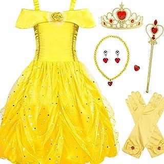 Kantenia Kids Baby Girls Costume Princess Dress Up 3-12 Years Birthday Cosplay Outfits