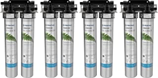 Everpure H-1200 Drinking Water Filter System (EV9282-00). Quick Change Dual Cartridge System. Commercial Grade Water Filtration and Lead Reduction (4 Sets)