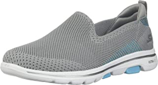 Skechers GO WALK 5-PRIZED Womens Shoes, Multicolour (Gray/Blue), 3.5 UK (36.5 EU)
