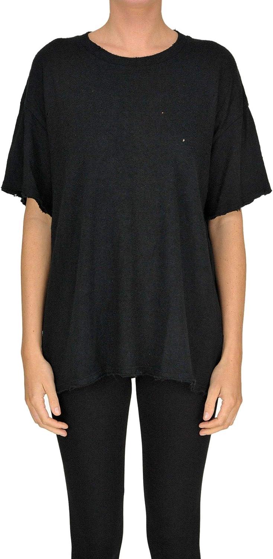 Iro Women's MCGLTPS000005158E Black Cotton TShirt