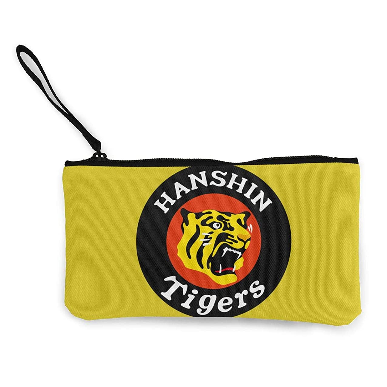 サーフィン電話をかける磁気阪神タイガース 小銭入れ ワレット 財布 キャンバス ジッパー付きハンド 大容量
