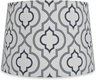 Lamp Shade, 13-Inch Two-Tone Screen Printed in Silver/White