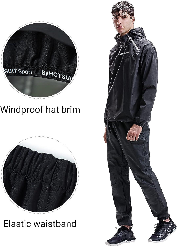 HOTSUIT Sauna Suit for Men Sweat Sauna Jacket Pant Gym Workout Sweat Suits : Sports & Outdoors