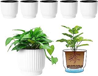 T4U Plastic Self Watering Planter, Long Term Water Storage Plant Pot/Macaron-Colored Flower Pots Outdoor Indoor Yard Garde...