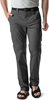 Men's Convertible Pants Zipp Off Stretch Durable UPF 50+ Quick Dry Cargo Shorts Trousers