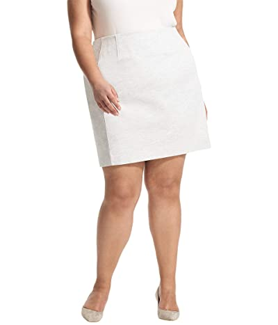 M.M.LaFleur Plus Size Crosby Skirt Twill Ponte (Light Heather Gray) Women