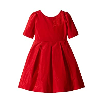Janie and Jack Applique Dress (Toddler/Little Kids/Big Kids) (Red) Girl