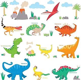 DECOWALL DS-8032 Dinosaure coloré (Ver anglais) (Petit) Autocollants Muraux Mural Stickers Chambre Enfants Garderie Salon ...