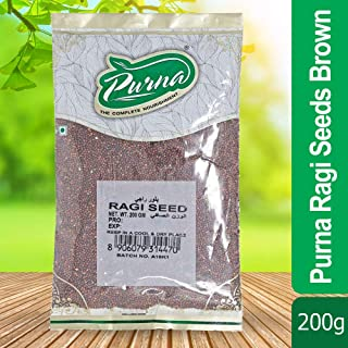 Purna Ragi Seeds - 200 gm Brown