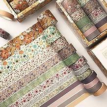 Hvxmot Washi Tape, 12 Rollen Decoratieve Washi Tape-sets, Washi Tapes 3m Elke Rol, met 1 Doos, voor Dagboek, Doe-het-zelf,...