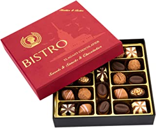 Bistro Chocolate Boxed Luxury Selection, Premium Assorted Gift Box, Gourmet Truffles,Natural and Healthy