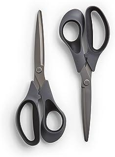 TRU RED 24380514 TRU RED 8-Inch Titanium Coated Scissors Straight Handle 2/Pack (TR55023)