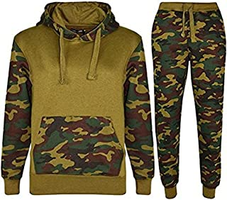 Kids sports Military camuflaje hododied Tracksuit 2 Piece Contrast