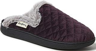 Dearfoams - Pantofole da donna in velluto trapuntato, per interni ed esterni