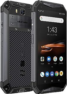 """Ulefone Armor 3W(2019)堅牢なスマートフォンのロック解除、IP68防水携帯電話、Android 9.0 10300mAhビッグバッテリー6GB + 64GB、デュアル4Gグローバルバンド5.7""""FHD +、コンパス、GPS ..."""