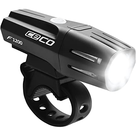 CECO-USA: 1,200 Lumen USB Rechargeable Bike Light – Tough & Durable IP67 Waterproof & FL-1 Impact Resistant– Super Bright Model F1200 Bicycle Headlight – For Commuters, Road Cyclists & Mountain Bikers