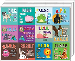 Depend On God Christian Educational Rewards Stickers (10-Sheets) - Great Stickers That Kids Will Surely Love