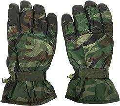 Mil-Tec Woodland Camo Leather/Nylon Winter Gloves Size Large - 12542000
