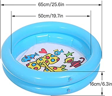 ZCFGUOI Inflatable Kiddie Pool for Kids, Summer Fun Swimming Pool for Kids Adults Toddlers Age 3+, Outdoor Water Toys for Gar