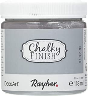 Rayher 38867558 Chalky Finish Paint, Chalk Paint for a Shabby Chic Look, Chalk Finish..