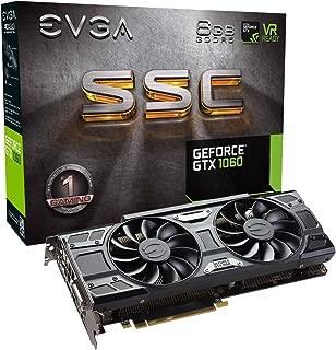 EVGA GeForce GTX 1060 6GB SSC GAMING ACX 3.0, 6GB GDDR5, LED, DX12 OSD Support (PXOC) Graphics Card 06G-P4-6267-KR (Renewed)