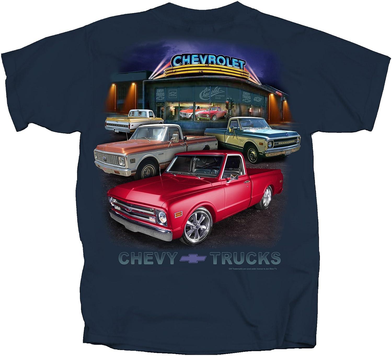 Joe Blow T S 1967 Bis 1972 Chevy Pickup Trucks T Shirt 100 Baumwolle Sanforisiert Blue Dusk Amazon De Bekleidung
