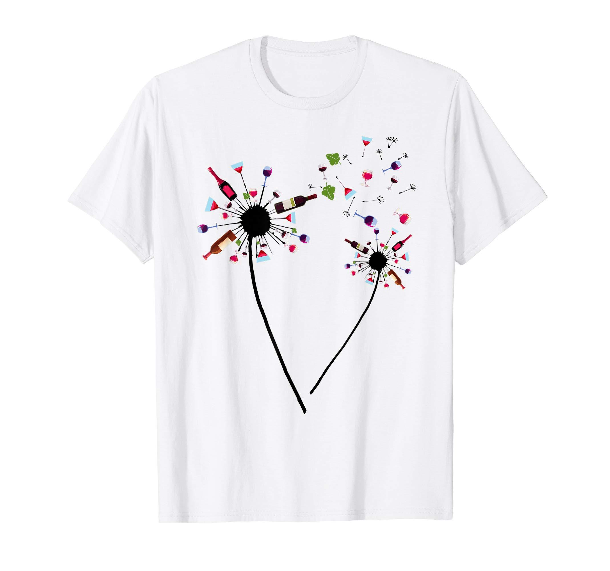 Wine Dandelion Drinking Wine Rosé For Wine Lovers Rosé Lover T-Shirt
