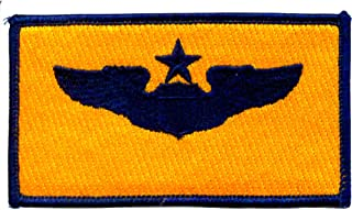Senior Pilot Wings Patch Gold And Blue