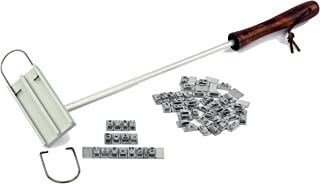 Barbuzzo BBQ Branding Iron with Changeable Letters - Brand Your Steak, Hamburger, Chicken, with Your Name, Message or Just About Anything - Great for Birthdays, Father's Day, Parties, Tailgates