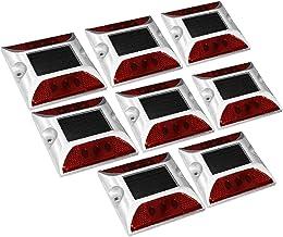 X-DREE 8pcs LED Solar Road Stud Light Marker Lighting Security Warning Lamp 6LED Red (70a74fc4-a222-11e9-8d7c-4cedfbbbda4e)
