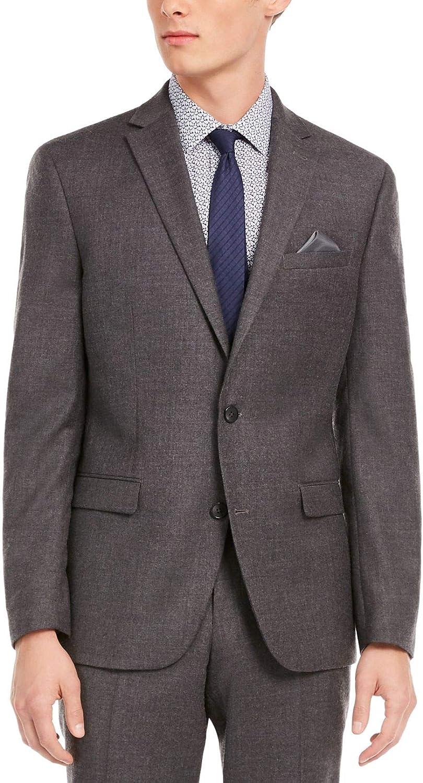bar III Mens Blazer Slim Fit Two-Button Stretch Wool Gray 46