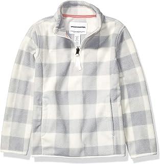 Amazon Essentials Girl's Quarter-Zip Polar Fleece Jacket
