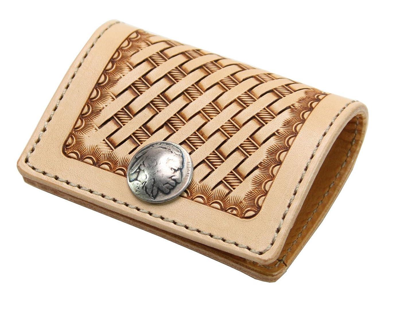 農業東作曲家KC , s Leather Craft Coin Purse 3番バスケットカラータンハンドメイドの日本