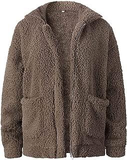 Surprise S Teddy Coat Women Fluffy Jacket Zipper Plush Thick Casual Plus Size Lamb Fcoat