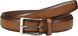 Tan with Burnished Edge Dress Belt