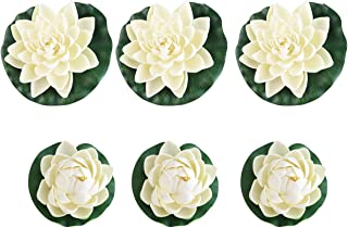 FENICAL Pond Plants Artificial Lotus Water Lilies Pack of 6pcs