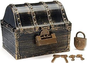 Retro Treasure Borst Gouden Muntstukken Sieraden Doos Game Props Speelgoed Keuken Deurkast Deur Toilet Deur Garagedeur Tui...