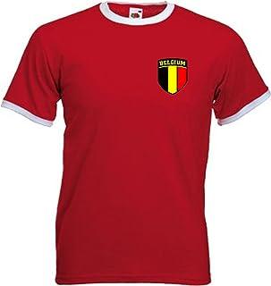 Invicta Screen Printers België Belgisch Belgisch Belgisch Retro Stijl Voetbal Team T-shirt