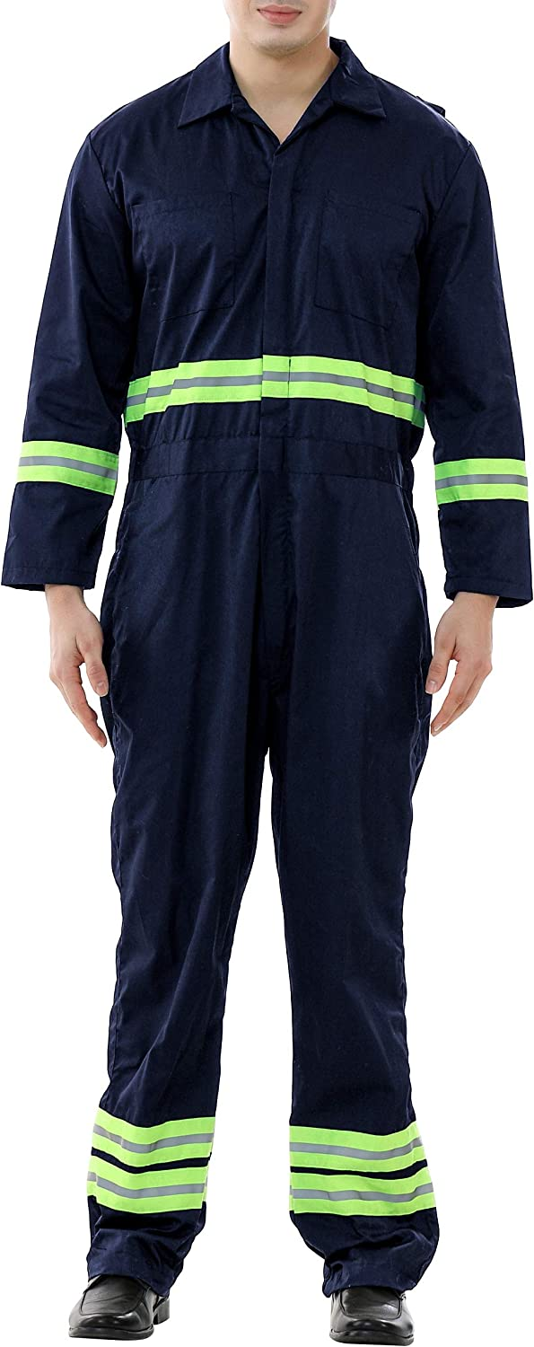 TOPTIE Safety Spasm price Coverall with Selling rankings Green Lengt Regular Tape Reflective