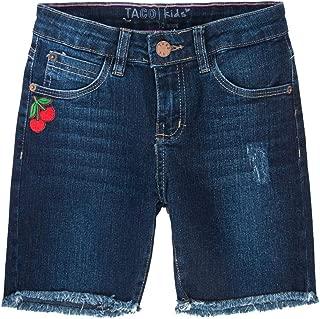 Bermuda Jeans Com Barra Puída Stone