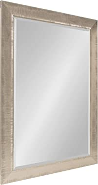 Kate and Laurel Reyna Large Framed Rectangle Wall Mirror, 30x42 Silver