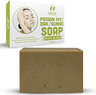 Natrulo Poison Ivy Soap Bar - All Natural Poison Ivy Treatment - Anti-Itch Skin Cleanser Bar for Poison Ivy, Poison Oak & Sumac - Removes Oils, Soothes & Relieves Rashes - 4 oz Bar Made in USA