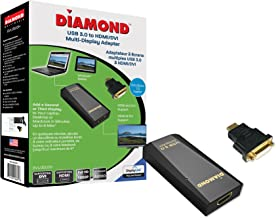 Diamond Multimedia BVU3500H USB 3.0 to DVI/HDMI Video Graphics Adapter up to 2560x1440 / 1920x1080 - Windows 10, 8.1, 8, 7, XP, MAC OS and Android 5.0 and Higher