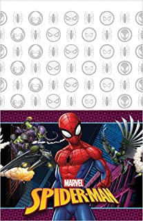 """Amscan 571860 Spider-Man™ """"Webbed Wonder"""" Plastic Table Cover, Party Favor 54"""" x 96"""" 1 ct"""