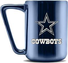 Duck House NFL Dallas Cowboys Ceramic Laser Engraved Coffee Mug - Metallic Finish, 16oz