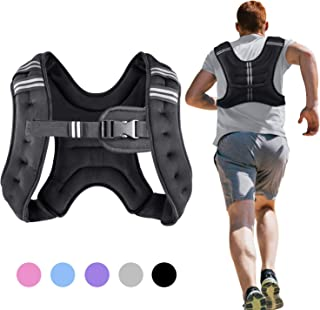 Henkelion Running Weight Vest for Men Women Kids 4 6 8 12 Lbs Weights Included, Body Weight Vests for Training Workout, Jogging, Cardio, Walking, Elite Adjustable Weighted Vest Workout Equipment