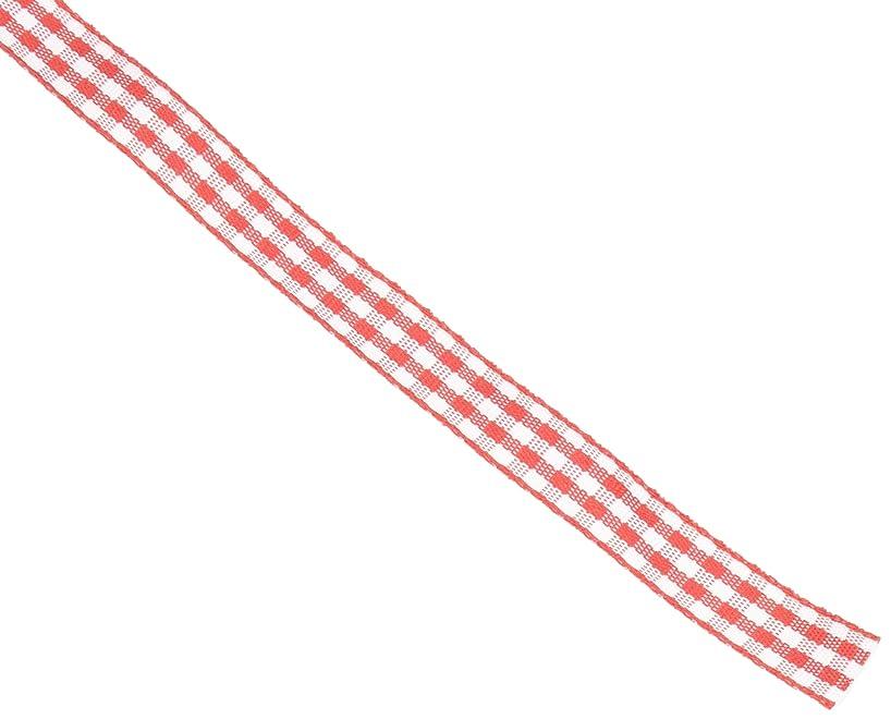 Red Gingham Ribbon, 3/8